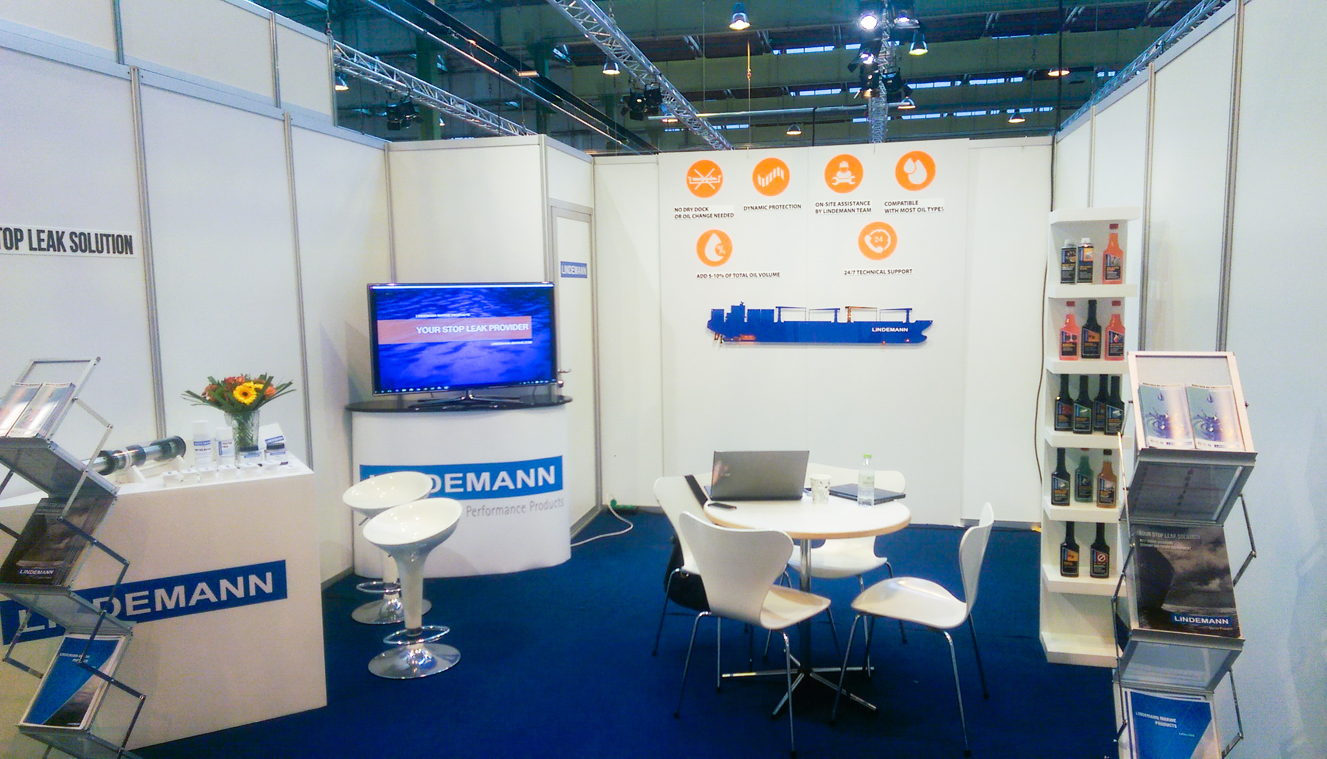 Lindemann Marine Products stand